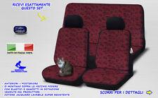 Fiat Seicento Coprisedili fodere 1998>2005 cotone dal  foderine ROSSO NERO set