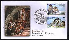 Vatikan 2011 FDC Satz Nr.1717 - 1718 die Stanzen des Raffael