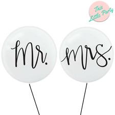 Mr & Mrs Wedding Balloons Black & White Bachelorette Engagement Party Supplies