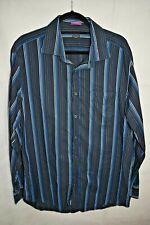 "Paul Smith Black & Blue Striped Shirt size 17.5"""