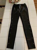 White House Black Market The Legging Black Pants SZ 00L  Vegan Leather NWOT
