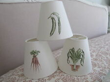 Handmade Candle Clip Lampshade Laura Ashley vintage Kitchen Garden fabric