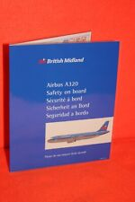 FLIGHT SAFETY CARD BRITISH MIDLAND AIRBUS A320 IN NEW CONDITION