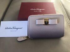 Salvatore Ferragamo Small Zip Around Coin Purse Card Bag Wallet Genuine *As New*