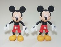 "Lot of 2 Disney Mickey Mouse Figurines ~ 3.5"" tall"