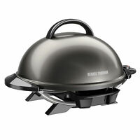 George Foreman Indoor/Outdoor Electric Grill Grilling Party BBQ Backyard Patio