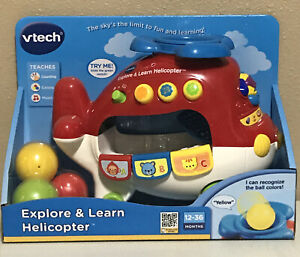 Vtech Explore & Learn Interactive Helicopter 2007 NEW 12-36 Months