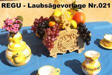 "+ REGU - Laubsägevorlage Nr.021 ""Frühstücks -u. Obstkorb"" schöne Laubsägevorlage"
