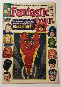 "Fantastic Four #54 (5.0) VG/FN Sept 1966 ""Whosoever Finds the Evil Eye!"""