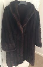 Vintage dark brown/red tones mink fur coat with shawl collar