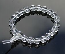 Clear Quartz Power Bead Bracelet