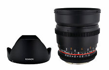 Rokinon 16mm T2.2 Ultra Wide Angle Cine Lens for Nikon VDSLR - New Lens!