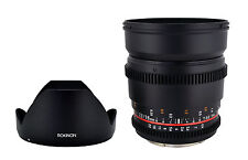 Rokinon 16mm T2.2 Ultra Wide Angle Cine Lens for Sony A Mount VDSLR - New Lens!