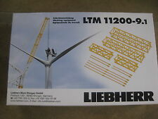 LIEBHERR LTM 11200-9.1 MOBILE CRANE JIB EXTENSION KIT 36M: NZG 1:50 BNIB