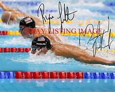 MICHAEL PHELPS AND RYAN LOCHTE AUTOGRAPHED 8x10 RP PHOTO OLYMPICS GOLD MEDALISTS