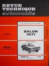 RTA revue technique 306 CHRYSLER 160 GT 180 SALON 1971