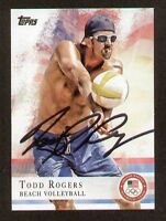 Todd Rogers signed autograph auto 2012 Topps U.S. Olympic Team Card