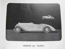 Derby Automobiles  4 roue indépendantes Voiture 100°/. française Plaquette 1933