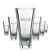 6 x Beefeater Glas Gläser Gin Longdrink Cocktail Frosted Gastro Bar NEU