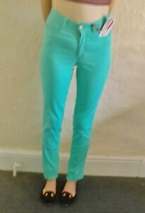Amazing Woman Tensel Cotton Stretchy Turquoise Jeans Size 10/34