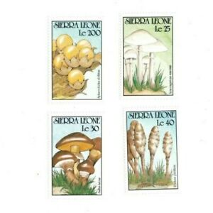 VINTAGE CLASSICS - Sierra Leone 1313-28 Mushrooms - Set Of 4 - MNH