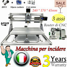 CNC Router 2417 3Axis Laser Mini Engraving Macchina Porta USB DIY Desktop Cutter