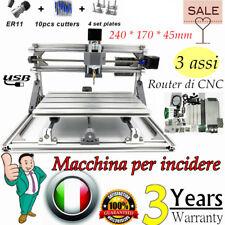 CNC 2417T 3 assi Macchina per incisione laser USB fresa Stampante 240*170MM DHL