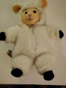 "Vintage 1992 MARY MEYER 10"" PLUSH LOVEY LAMB SHEEP With Removable Coat. EUC"