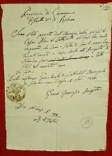 G14-CREMONA, DISTRETTO V° DI ROBECCO, RICEVUTA DI PAGAMENTO, 1835