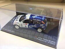 VOITURE MINIATURE RALLYE FORD FOCUS RS WRC 2001-Andreucci San Marino  - IXO 1/43