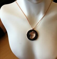 Rose Gold Over 925 Sterling Silver Lucky Feet Necklace