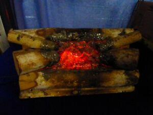 Mid Century FIREPLACE LOGS MOVING FIRE LIGHT  Rustic Crafts Englewood NJ