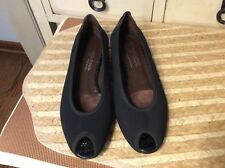 Donald J Pliner Black  Open Toe Slip on Flat shoes Size 7.5 M Italy Women's