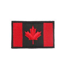 Canada Flag Embroidered Hook Loop Emblem Patch Canadian Maple leaf 8x5cm