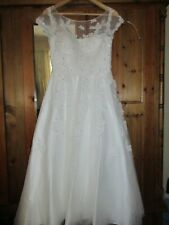 JJS HOUSE VINTAGE STYLE TEA LENGTH WEDDING DRESS SIZE 10