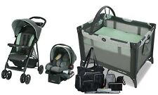 Graco Baby Stroller with Car Seat Travel System Combo Playard Nursery Diaper Bag