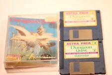 Dungeon Quest CBM Amiga 500/1000 par image Tec 1989 3.5 floppy disc Astra Pack 2
