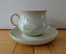 Denby Handcrafted Tea Cup and Saucer, Daybreak Design,