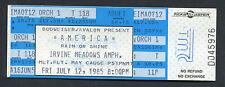 1985 America Unused Full Concert Ticket Irvine Meadows Ventura Highway