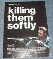 2012 Brad Pitt Killing Them Softly Movie Magazine Ad