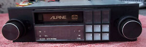 "Alpine 7166 ""Old School"" Shaft Style AM/FM/Cassette Car Stereo - Refurbished"