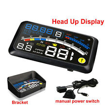 5.5'' Universal OBD2 Car GPS HUD Head Up Display Overspeed Warning System Bluela