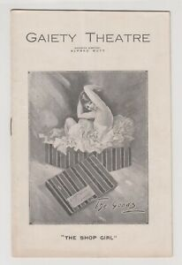 """VINTAGE THEATRE PROGRAMME """"The Shop Girl"""" Gaiety Theatre, Evelyn Laye actress"""