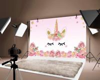 5x3ft Photography Background Unicorn Birthday Party Photo Backdrop Background