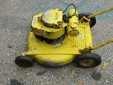 Vintage Lawn Boy Push Mower Model #3051 Aluminum Deck 2 Stroke 1962 yellow