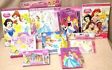 Disney Princesses Fun Pack: Lot of 9 Pieces Including Locking Diary BNIP Sealed