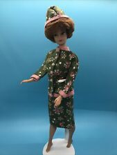Vintage Barbie Clone Or Mommy Made Green Floral Top And Skirt