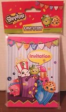 Shopkins Birthday Party Invitations, 8ct Girls 3 yrs+  New  2016
