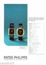 PUBLICITE ADVERTISING 116  1977   les montres Patek Philippe