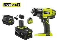 "RYOBI P261K 1/2"" Impact Wrench 3 Speed 18V kit w/ 4.0 Ah Battery & Charger & Bag"